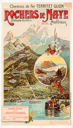 Rochers de Naye Travel Poster