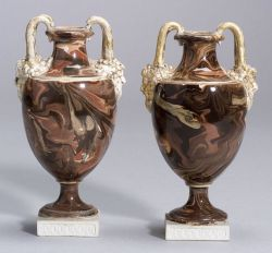 Two Wedgwood Surface Agate Vases
