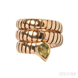 18kt Gold and Peridot