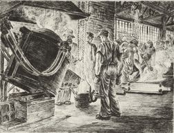 Niels Yde Andersen (Danish/American, 1888-1952)      Lot of Four Images of Factory Workers: Smelting