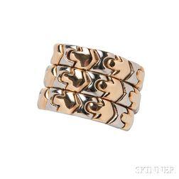 18kt Bicolor Gold Ring, Bulgari
