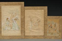 Three Unmounted Persian Paintings