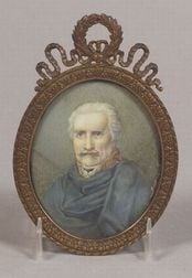 Portrait Miniature on Ivory of Prussian Marshall Gebhard Leberecht von Blucher