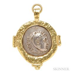 18kt Gold and Coin Pendant, Elizabeth Gage