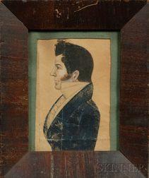 Portrait Miniature of a Gentleman in Profile