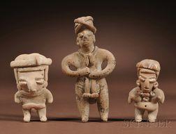 Three Chupicuaro Pottery Figures