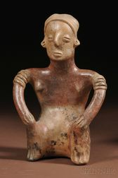 Colima Painted Pottery Figure