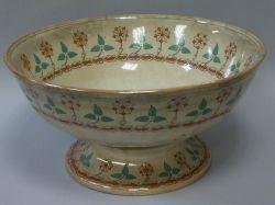 English Primrose Transfer Decorated Ceramic Punch Bowl.