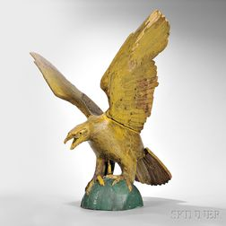 Carved and Painted Eagle