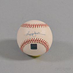 Reggie Jackson Autographed Baseball.     Estimate $50-100