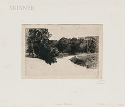 Sir Francis Seymour Haden (British, 1818-1910)      Four Views:   Shere Mill Pond No. 1 (Small Plate)