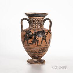 Ancient Attic Black-figure Squat Amphora