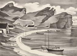 Vera Andrus (American, 1896-1979)      Two Quebec Shore Views:  Les Trois Soeurs
