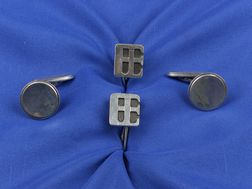 Two Pairs of Sterling Silver Cufflinks