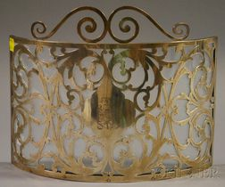 Henckel Sterling Silver Overlay Glass Table Screen