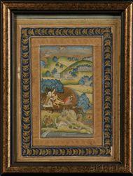 Illuminated Manuscript Leaf
