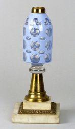 Cut Overlay Glass Peg Lamp