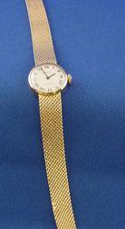 Lady's 14kt Gold Wristwatch, Movado, Tiffany & Co.