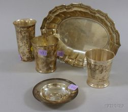 Five Sterling Tablewares