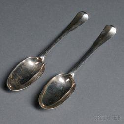 Two George II Sterling Silver Spoons