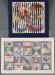 Yaacov Agam (Israeli, b. 1928)      Two Op Art Compositions.