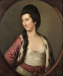 School of Francis Cotes (British, 1726-1770)      Rose and Ermine, Portrait of a Woman