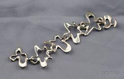 Abstract Design Sterling Silver Bracelet, Georg Jensen, Henning Koppel