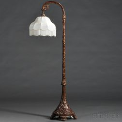 Asian Export Carved Giltwood Floor Lamp