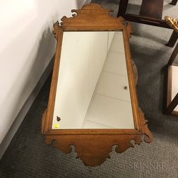 Chippendale Maple Scroll-frame Mirror