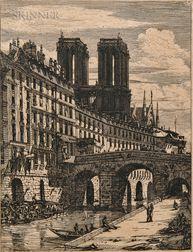 Charles Meryon (French, 1821-1868)      Le Petit Pont