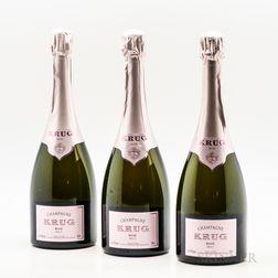 Krug Brut Champagne Brut Rose NV, 3 bottles (oc)