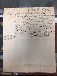 Allen, Jeremiah (1673-1741) Autograph Document Signed 7 June 1717.