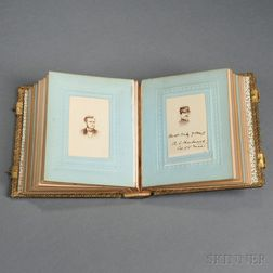 Carte-de-visite Photo Album Including Soldiers