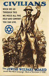 Sidney H. Riesenberg Civilians   Jewish Welfare Board U.S. WWI Lithograph   Poster