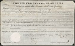 Adams, John Quincy (1767-1848) Document Signed, 15 April 1825.