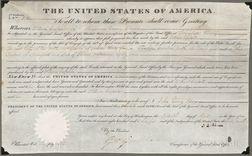 Adams, John Quincy (1767-1848) Document Signed, 15 April 1825.