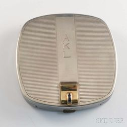 Tiffany & Co. Sterling Silver, 14kt Gold, and Sapphire Compact