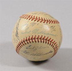 1949 Boston Red Sox Team Autographed Baseball