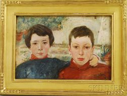 Frederick Trapp Friis (American, 1865-1909)      Bjorn and Jan (The Artist's Sons).