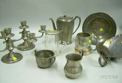 Ten Modern Pewter Table Articles.