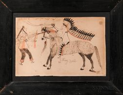 Ledger Drawing Attributed to Sitting Bull