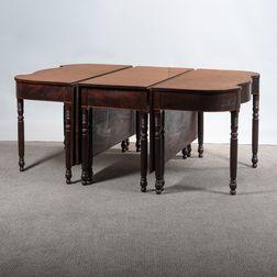 Federal Inlaid Mahogany Three-part Banquet Table