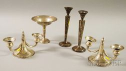 Five Weighted Sterling Silver Tableware Items