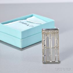 Sterling Silver Brooklyn Bridge Money Clip, Tiffany & Co., boxed.