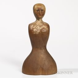 Carved Female Head and Torso
