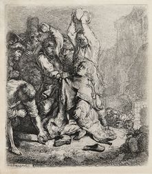 Rembrandt van Rijn (Dutch, 1606-1669)      The Stoning of St. Stephen