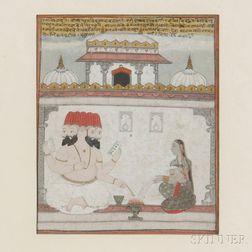 Miniature Painting, Khambavati Ragini