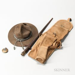 French Bayonet, Verdun Lighter, BAR Case, and Campaign Hat