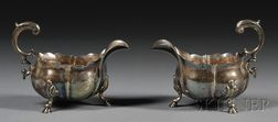 Pair of George II Silver Sauce Boats