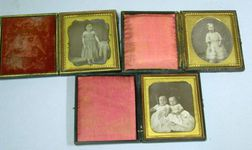 Three Cased Daguerreotype Portraits of Children